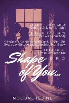 Shape of You - Ed Sheeran - music notes for newbies music notes for newbies: Shape of You – Ed Sheeran. Play popular songs and traditional music with note letters for easy fun beginner instrument practice - great for flute, piccolo, recorder, piano and Music Notes Letters, Piano Sheet Music Letters, Keyboard Sheet Music, Easy Piano Sheet Music, Flute Sheet Music, Music Sheets, Ed Sheeran, Shape Of You Ed, Song Notes
