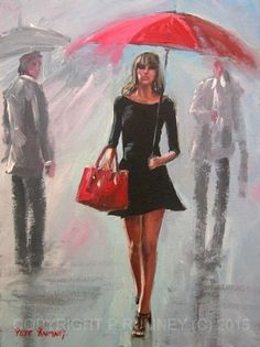 PETE-RUMNEY-FINE-ART-MODERN-ACRYLIC-OIL-PAINTING-IN-YOUR-DREAMS-SIGNED-CANVAS-NR
