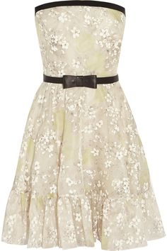ValentinoFloral-print silk-organza dress