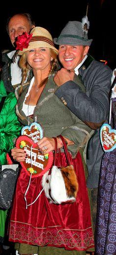 Michael Schumacher et sa femme Corinna à l'Oktoberfest de Munich le 1er octobre 2013