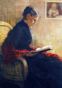 프란츠 마크, 내 어머니 Franz Marc, Portrait of the Artist's Mother, 1902.