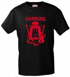 INDIVIDUELLES HAMBURG WAPPEN GITARREN MUSIK KONZERT SWEET HOME EXPERTEN T-SHIRT!