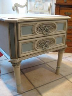 French Side Tables  Resurfaced with Van Gogh by Pairabelles, $199.00