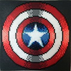 Captain America's Shield Perler Beads by Teratomatastica