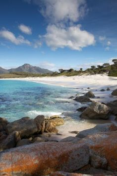 Top Beach of the World: The Stunning and Pristine Beach at Wineglass Bay in Tasmania, Australia