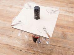 DIY-Anleitung: Weinglashalterung für Weinflasche bauen via DaWanda.com