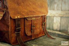 """#Leather #Messenger #Bag 15"""" / #Air #Plane #Cabin #Bag / #Briefcase / #Handbag / #Satchel / #Shoulder #Bag / #iPad / #Hip #Bag by #EpicLinen"""