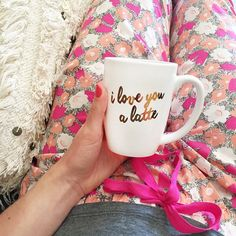 I want this coffee cup, then I love lattes too. Couldn't get any better than that!