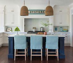 blue and white coastal kitchen   Kate Jackson Design