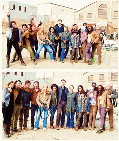 The Walking Dead cast <3 Love how goofy they can be!!