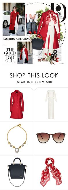 """""""The good bad girl"""" by amaryllis ❤ liked on Polyvore featuring Jil Sander Navy, Valentino, Lulu Frost, MANGO, Givenchy, Alexander McQueen and Giuseppe Zanotti"""
