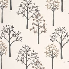 The most desired designs are often those with simple elegance, which describes the Woodland Curtain Fabric Charcoal. This simple pattern of charcoal toned trees bearing beige and smoke leaves set against a floral white background offers both style and grace for window décor or any other projects you have in mind.