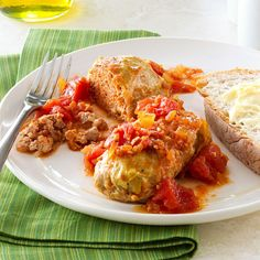 Classic Cabbage Rolls Recipe -I've always enjoyed cabbage rolls but didn't make them since most methods were too complicated. This recipe is fairly simple and results in the best cabbage rolls. My husband, Sid, requests them often. They're terrific to share at gatherings with our children and grandchildren. —Beverly Zehner, McMinnville, Oregon