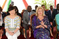 Dominique Ouattara premiere Dame de côte-d'ivoire et Abe Akie ont salue…