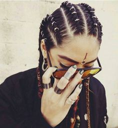 Braids Hair Styles Ideas The or Hair Rings new trend very rock'n'roll hairstyle Curly Hair Styles, Natural Hair Styles, Roll Hairstyle, Hair Rings, Pinterest Hair, Afro Hairstyles, Festival Hairstyles, Stylish Hairstyles, Hair Pictures