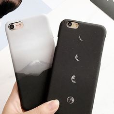 Funny Cartoon Mount Fuji Case For iphone7 Case For iphone 7 6 6s Plus Fashion Eclipse of the Moon Hard PC Phone Cases Fundas Hot