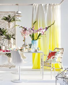 Dutch magazine More than Classic featuring Designers Guild Saraille ombre lemongrass linen Designers Guild, Yellow Interior, Interior Decorating, Interior Design, Decorating Ideas, Coaster Furniture, Jackie Kennedy, Interior Exterior, Bedroom Styles