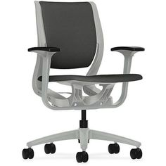 HON Purpose Mid-Back Task Chair with Adjustable Arm, Silver