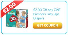 $2.00 Off Pampers Easy Ups Diapers
