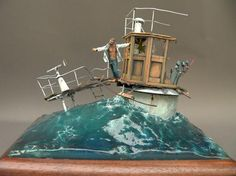 The Galilée diorama, 1/35 scale with a French cruiser and sea in scale | jbadiorama