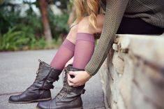 Differences between sheer & opaque compression stockings Opaque Stockings, Knit Stockings, Compression Stockings, Different, Flower Pots, Conversation, Combat Boots, Autumn Fashion, Socks