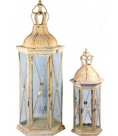 Duża metalowa latarnia - lampion retro