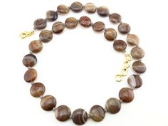 Agate Jewelry, Agate Beads, Stone Jewelry, Brown Band, Natural Stones, Wedding Jewelry, Mall, Promotion, Trending Outfits