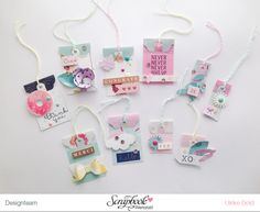 Tag Punch Tags by @thinkpinkandmint using the DIY Party Tag Punch from @wermemorykeepers