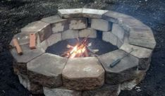 Very easy fire pit. 36 cement garden walls at $1.91 each for a $70 fire pit project