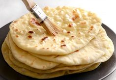 Easy Homemade Naan Recipe - Step By Step Photos - Budget Bytes Homemade Naan Bread, Yeast Bread Recipes, Flatbread Recipes, Non Bread Recipe, How To Make Bread, Food To Make, Clay Oven, Bread Bun, Recipe Steps