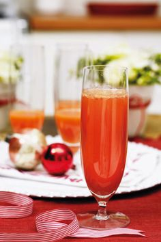 Blood orange mimosas