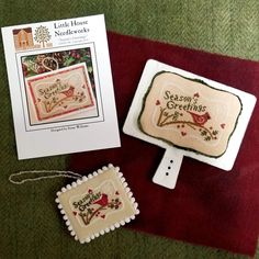Little House Needleworks, Seasons, Cards, Seasons Of The Year, Maps, Playing Cards
