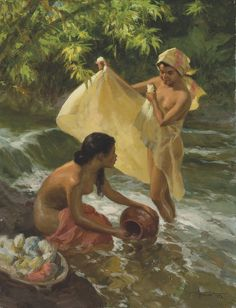 """Fernando Amorsolo y Cueto, Filipino painter, was an important influence on contemporary Filipino art and artists, even beyond the so-called """"Amorsolo school"""". Subjects: Philippine Genre, historical and society Portraits. Arte Filipino, Filipino Culture, Filipino Funny, Philippine Art, Great Paintings, Western Art, Oil Painting On Canvas, Impressionism, Art History"""