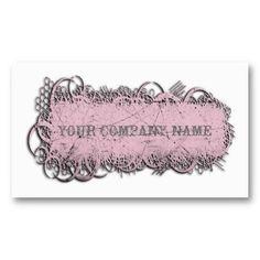 Grunge Frame Pink Business Cards