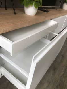 drawers for TV unit unit decor Ikea I cooked up a perfect wall mounted TV cabinet - IKEA Hackers Tv Cabinet Ikea, Ikea Wall Cabinets, Tv Cabinets, Wall Mounted Tv Unit, Mounted Tv Decor, Ikea Tv Unit, Ikea Hack Storage, Lp Storage, Record Storage