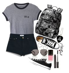 """""""Outfit 62"""" by jessicafm ❤ liked on Polyvore featuring MANGO, Vera Bradley, Converse, Marc by Marc Jacobs, Laura Mercier, LVX, Lipsy and Disney"""