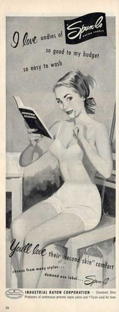 vintage under garment ads | Vintage Clothes/ Fashion Ads of the 1950s (Page 34)