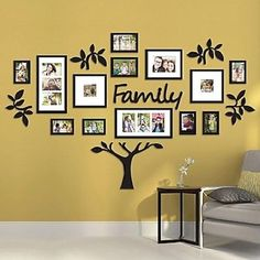 Picture Frame Wedding Photo Collage Family Tree Wall Verb Art Sign Sculpture Set