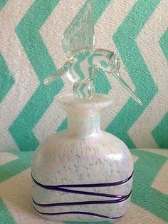 Vintage-Hummingbird-Glass-Perfume-Bottle