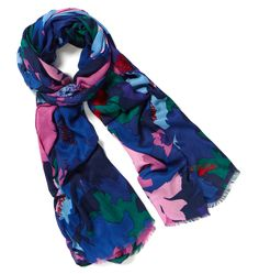 Marcs abstract poppy print scarf