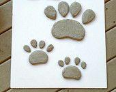 Paw Print, Pet Memorial, Dog Paw, Paw Print Stepping Stone, Concrete Stone
