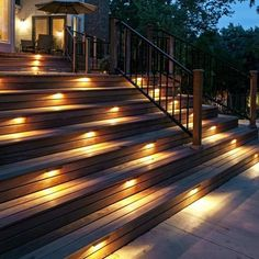 Smart Lighting Deck Lights Step Lights Underground Light Solar Lights Strip Lights Holiday Lighting Lighting Accessories Sports & Outdoor Home & Garden Home & Kitchen Outdoor Stair Lighting, Led Stair Lights, Outdoor Stairs, Backyard Lighting, Patio Stairs, Deck Step Lights, Solar Deck Lights, Outdoor Deck Decorating, Outdoor Decor