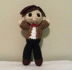 Doctor Who 11th Doctor Crochet Doll on Etsy, $15.00