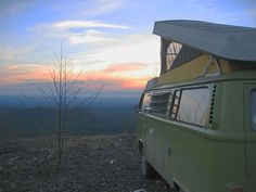Camp in a VW Bus.
