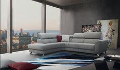 A Milton ülőgarnitúrát azoknak terveztük, akik különleges bútorokkal berendezett társalkodóra vágynak. Modern stílus, metál lábak, légiesség melyek meghatározzák a Milton ülőgarnitúrát; egyedi, párnázott karfája, mély és széles ülése és mechanikusan 8 pozícióba állítható fejtámlája által a mindennapi pihenés még kellemesebbé válik. Bár modern, letisztult formavezetéssel rendelkezik, ugyanakkor kiváló kényelmet biztosít. A modell rendelhető elektromos relax funkcióval is. Sofa, Couch, Furniture, Home Decor, Settee, Settee, Decoration Home, Room Decor, Sofas