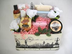 Paris themed gift arrangement from www.NaturallyInnovative.com