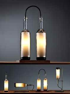 Wine Bottle Lamp by John Meng Liang | Please subscribe to my weekly newsletter at upcycledzine.com ! #upcycle