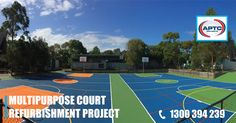APTC Australia teamed up with one of our approved applicators and CASALI SPORTS COATING, using the POLYSPORT system, we have been able to rejuvenate these tired worn out courts and have given them a new lease of life. Primary School, Tired, Australia, Sports, Projects, Hs Sports, Log Projects, Blue Prints, Excercise