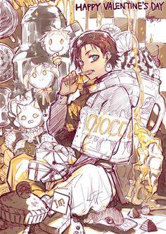 Im great priest imhotep - Saint Valentin - By Makoto Morishita Valentine's Day is taken into account amongst my beloved events to share with my loved ones Manga Art, Manga Anime, Anime Boys, Saint Valentine, Valentines, Character Art, Character Design, Manga Love, Priest