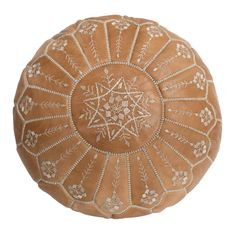 Found it at Wayfair - Moroccan Leather Embroidered Pouf Ottoman Leather Pouf Ottoman, Moroccan Leather Pouf, Moroccan Pouf, Ottoman Footstool, Ottomans, Moroccan Style, Low Stool, Stitching Leather, Soft Leather